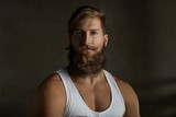 Portrait of a young stylish bearded man - 224108003