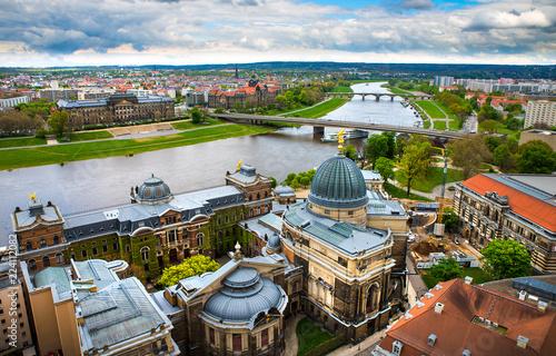 Leinwanddruck Bild The amazing city of Dresden in Germany. European historical center and splendor.
