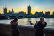 London Parliament big Ben sunset