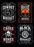 Vintage Whiskey Label T-shirt Graphic Collection - 224115856