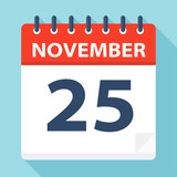 November 25 - Calendar Icon - 224123852