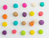 A french sweet delicacy, macaroons variety closeup.macaroon colourful texture. - 224123870