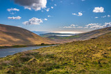 Panoramic view over Dingle town from Conor Pass, county Kerry, Ireland