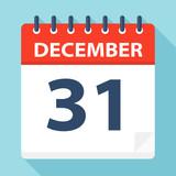 December 31 - Calendar Icon - 224125056