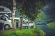 Leinwanddruck Bild - Scenic RV Park Camping