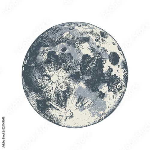 Hand drawn moon