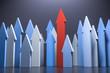 3D Illustration Pfeile Wachstum und Aufstieg