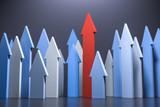 3D Illustration Pfeile Wachstum und Aufstieg - 224184809