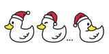 Fototapety duck vector Christmas vector Santa claus Xmas icon logo cartoon character illustration white