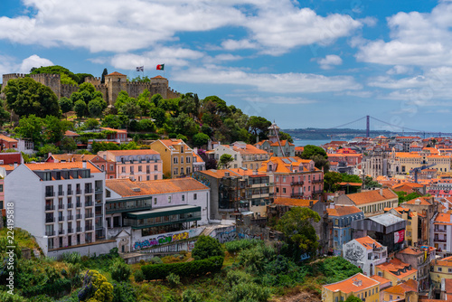 Aerial view of Lisbon - 224195818