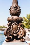 Pont Alexandre III Bridge: Lantern details (lamppost). Paris, France