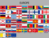 all flags of Europe