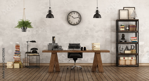 Retro office with vintage furniture © archideaphoto