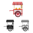 Isolated object of market and exterior icon. Set of market and food vector icon for stock.