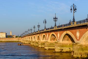 Saint Pierre bridge at Bordeaux, France