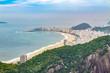 Quadro View of Copacabana Beach in Rio de Janeiro with buidlings in Brazil