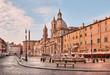 Quadro Rome, Piazza Navona (Navona Square) at dawn, Italy