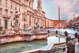 Rome, Fountain of Moro in piazza Navona, Italy