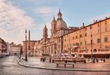 Rome, Piazza Navona (Navona Square) at dawn, Italy