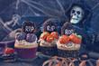 Leinwanddruck Bild - Sweets for halloween party