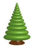 Single green tree spruce. Vector format.