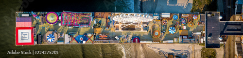 Atlantic City New Jersey boardwalk aerial view - 224275201