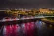 Trenton Makes The World Takes Trenton Bridge Aerial Night Photo