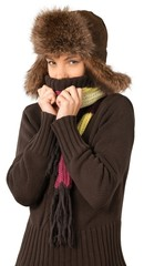 Young Woman In Winter Clothes - Isolated