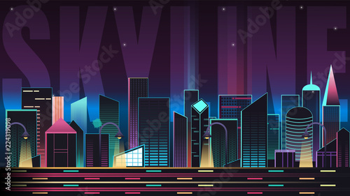 Skyline landscape with Typography - 224319098