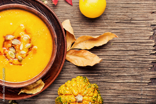 Autumn pumpkin soup - 224323499