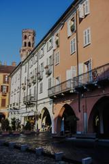 Vercelli street Italy