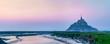 Leinwandbild Motiv Mont Saint Michel, a famous island in Normandy, France