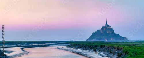 Leinwanddruck Bild Mont Saint Michel, a famous island in Normandy, France