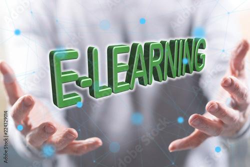 Leinwandbild Motiv Concept of e-learning