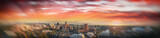 Stunning aerial panoramic view of Adelaide skyline at sunset, South Australia - 224333495
