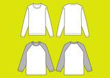 長袖Tシャツ ラグランTシャツ, ベクター   - 224354014