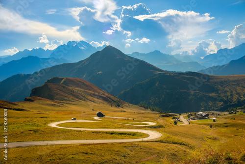Summer view Passo Giau Dolomites, Italy, Europe