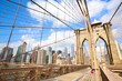 Pedestrian walkway on the Brooklyn Bridge, New York