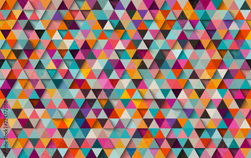 fototapeta na ścianę Colorful triangular seamless background or pattern, eps10 vector