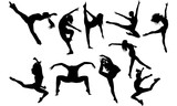 Jazz Dance svg, dance cricut files,  black dancer silhouette Vector clipart, illustration, eps, overlay