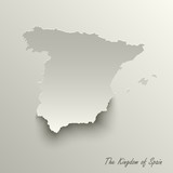 Abstract design map the Kingdom of Spain template - 224380094