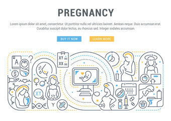 Linear Banner of the Pregnancy.