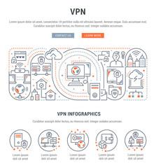 Linear Banner of VPN.