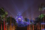 parque público de la ciudadela en barcelona de noche - 224409456