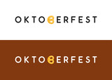 Oktoberfest typography logo for Web site header and footer or flyer in modern style design.