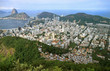 Quadro Aerial view of Rio de Janeiro Cityscape with the famous Sugarloaf mountain in the distance, Brazil, South America