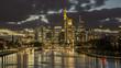 Frankfurt-Skyline bei Nacht