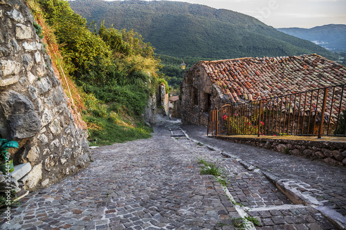 Street of Pereto in Abruzzo, Italy