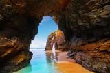 Playa las catedrales Catedrais beach in Galicia Spain