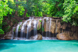 Deep rain forest jungle waterfall